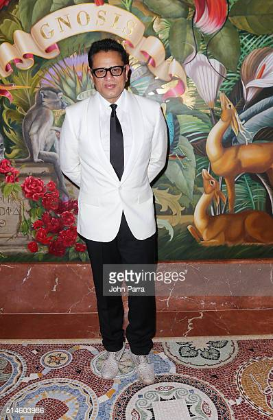 Designer Naeem Khan attends the Krug Journey Miami at Faena Hotel on March 9 2016 in Miami Beach Florida