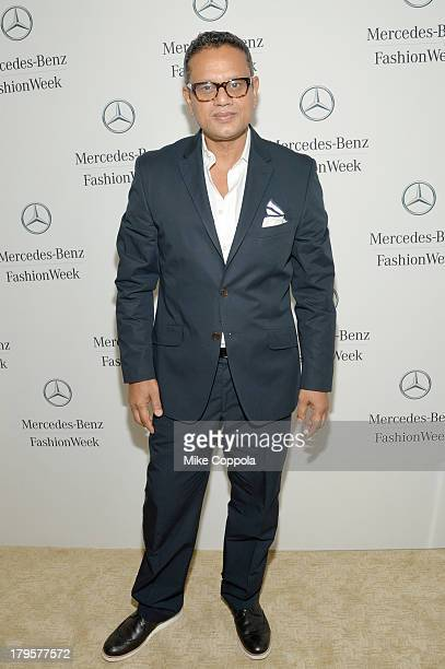 Designer Naeem Khan attends the MercedesBenz Star Lounge during MercedesBenz Fashion Week Spring 2014 at Lincoln Center on September 5 2013 in New...