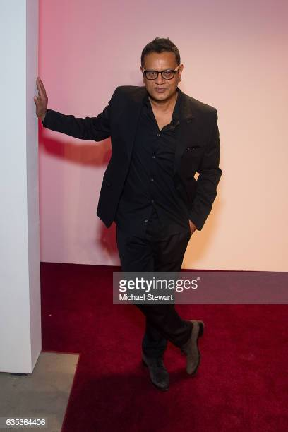 Designer Naeem Khan attends the Naeem Khan fashion show during February 2017 New York Fashion Week at Gallery 2 Skylight Clarkson Sq on February 14...