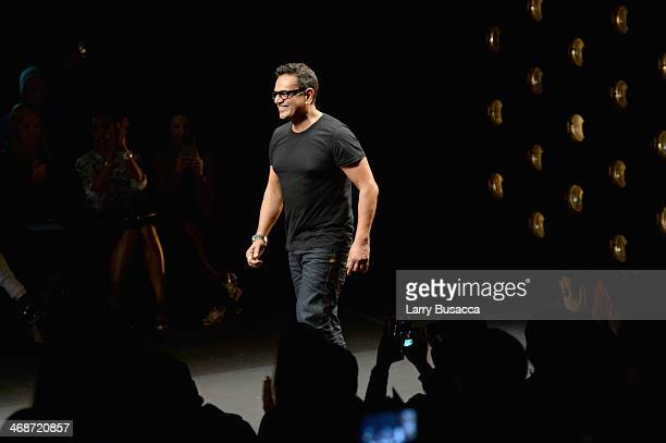 Designer Naeem Khan attends the Naeem Khan fashion show during MercedesBenz Fashion Week Fall 2014 at The Theatre at Lincoln Center on February 11...