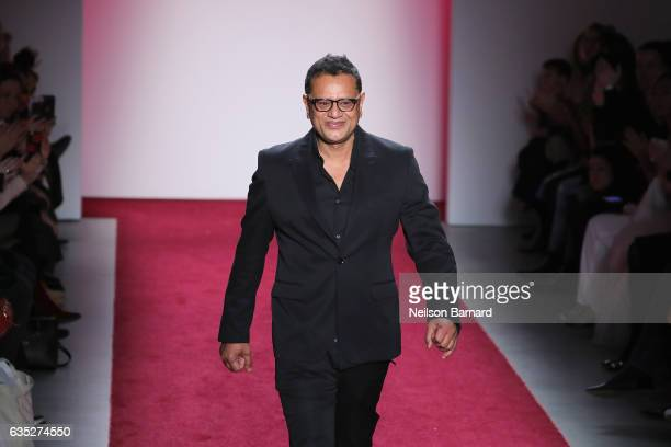Designer Naeem Khan walks the runway for the Naeem Khan collection during New York Fashion Week The Shows at Gallery 2 Skylight Clarkson Sq on...
