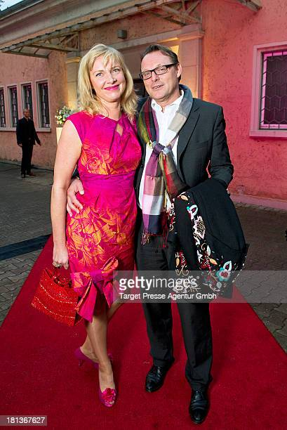 Designer Nana Kuckuck and Dirk Uhlmann attend the 'Fest der Eleganz und Intelligenz' at Villa Siemens on September 20 2013 in Berlin Germany