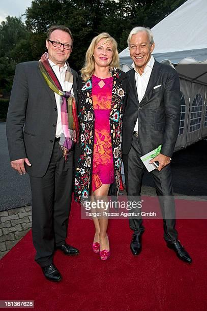 Designer Nana Kuckuck Dirk Uhlmann and Jo Groebel attend the 'Fest der Eleganz und Intelligenz' at Villa Siemens on September 20 2013 in Berlin...