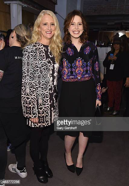 Designer Nanette Lepore and actress Vanessa Bayer attend the Nanette Lepore fashion show at Pop14 during MercedesBenz Fashion Week Fall 2015 on...