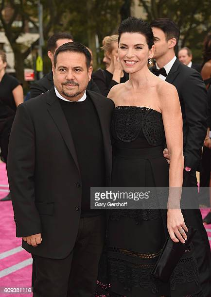 Designer Narciso Rodriguez and actress Julianna Marguiles attend the New York City Ballet 2016 Fall Gala at the David H Koch Theater at Lincoln...