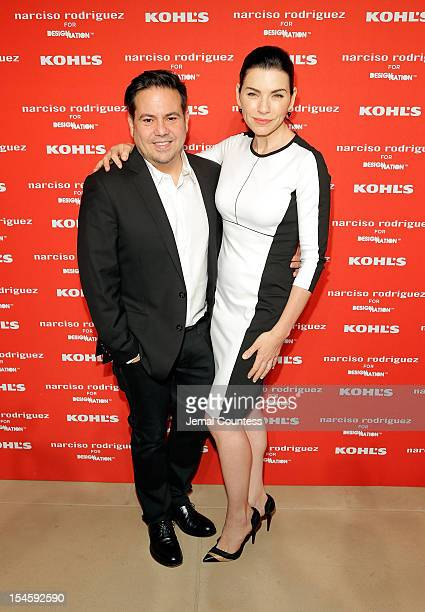 Designer Narciso Rodriguez and actress Julianna Margulies attend Narciso Rodriguez Kohl's Collection Launch Party at IAC Building on October 22 2012...