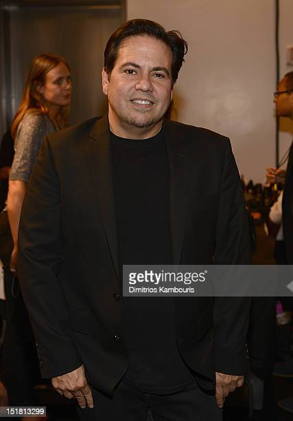 Designer Narciso Rodriguez attends the Narciso Rodriguez spring 2013 fashion show during MercedesBenz Fashion Week at SIR Stage37 on September 11...