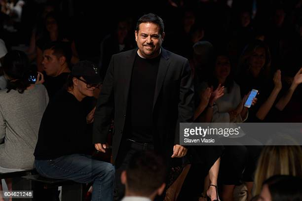 Designer Narciso Rodriguez walks the runway at Narciso Rodriguez fashion show during September 2016 New York Fashion Week at SIR Stage 37 on...