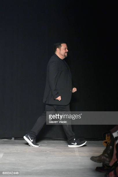 Designer Narciso Rodriguez walks the runway during Narciso Rodriguez collection during New York Fashion Week The Shows on February 14 2017 in New...