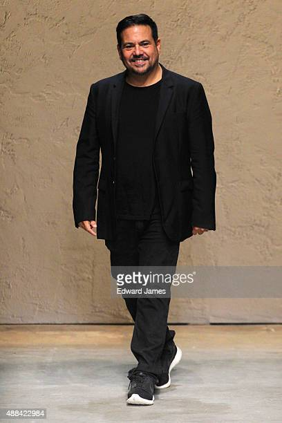 Designer Narciso Rodriguez walks the runway during the Narciso Rodriguez Spring/Summer 2016 fashion show at SIR Stage37 on September 15 2015 in New...
