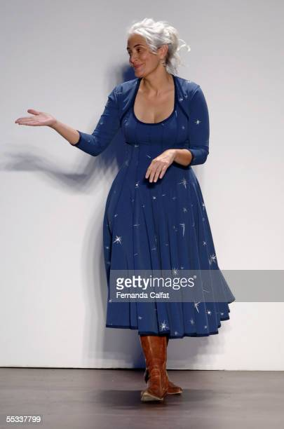 Designer Natalie Chanin walks the runway at the Project Alabama 2006 Spring show during Olympus Fashion Week at the Bryant Park September 10 2006 New...