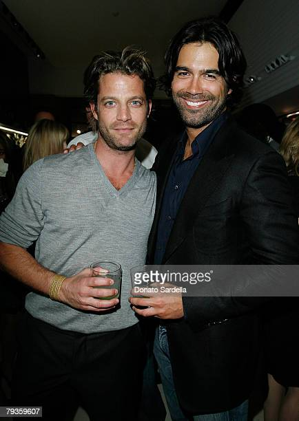 Designer Nate Berkus and Brian Atwood inside the Bally and Vogue celebrate its new creative director Brian Atwood with an instore cocktail evening...