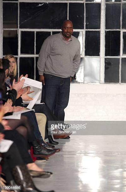 Designer Negris Lebrum at the Negris Lebrum 2012 fashion show during MercedesBenz Fashion Week at Studio 450 on February 15 2012 in New York City