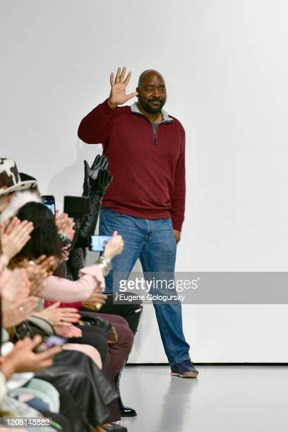 Designer Negris LeBrum is seen on the runway for the Negris LeBrum fashion show during New York Fashion Week on February 09 2020 in New York City