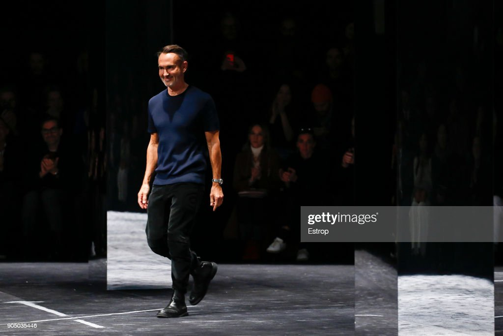 Designer Neil Barret at Neil Barrett show during Milan Men's Fashion Week Fall/Winter 2018/19 on January 13, 2018 in Milan, Italy.