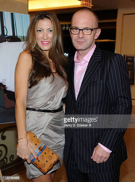 Designer Neila Granzoti Rudden and Dean of Parsons The New School for Design Simon Collins attend the launch of MCM's Cognac Visetos Heritage Book...