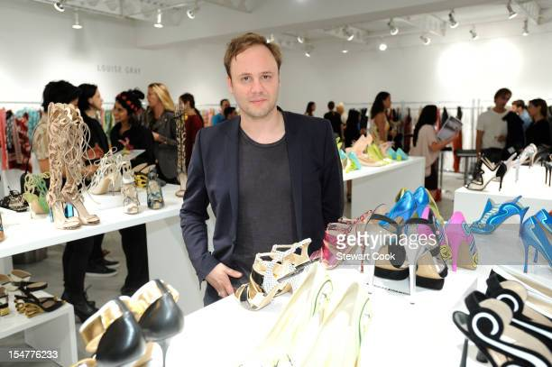 Designer Nicholas Kirkwood attends The British Fashion Council's International Showcasing Initiative LONDON Show ROOMS LA at Ace Gallery on October...