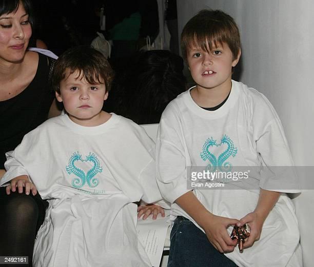 Designer Nicholson's children attend the Jennifer Nicholson Spring/Summer 2004 Fashion Show during MercedesBenz Fashion Week at Bryant Park September...