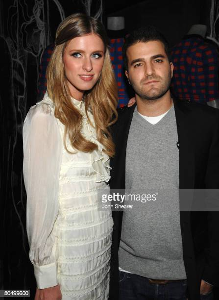 Designer Nicky Hilton and David Katzenberg attend the Los Angeles screening of Trembled Blossoms presented by Prada on March 19 2008 in Beverly Hills...