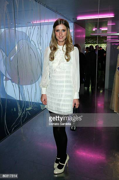 Designer Nicky Hilton attends the Los Angeles screening of Trembled Blossoms presented by Prada on March 19 2008 in Beverly Hills California