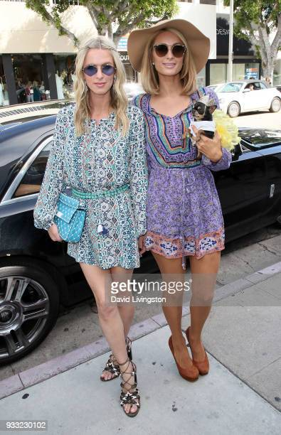 Designer Nicky Hilton Rothschild and sister/businesswoman Paris Hilton attend the Nicky Hilton x Tolani launch at KitRoss on March 17 2018 in Los...