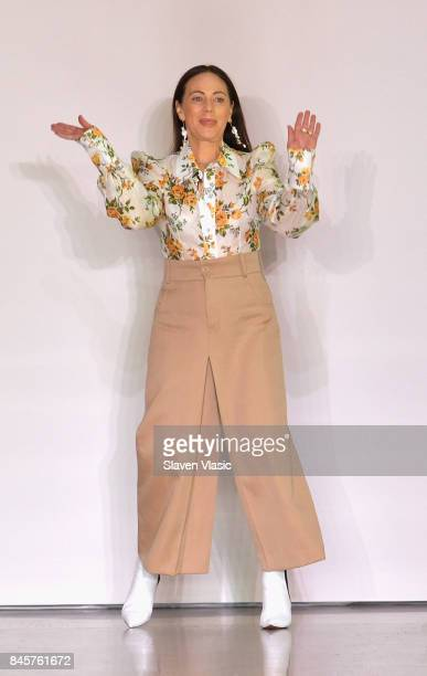 Designer Nicky Zimmermann walks the runway for Zimmermann fashion show during New York Fashion Week The Shows at Spring Studios on September 11 2017...