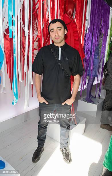 Designer Nicola Formichetti attends the Nicopanda presentation during Mercedes-Benz Fashion Week Fall 2015 on February 16, 2015 in New York City.