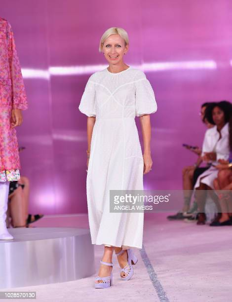 Designer Nicola Glass at the Kate Spade New York Fashion Show during New York Fashion Week at New York Public Library on September 7 2018 in New York...