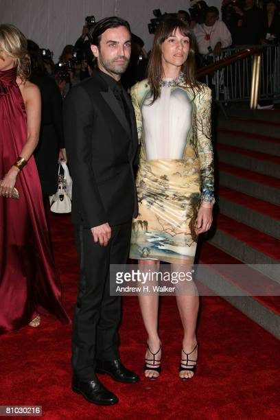 Designer Nicolas Ghesquiere and actress/singer Charlotte Gainsbourg arrive to the Metropolitan Museum of Art Costume Institute Gala Superheroes...