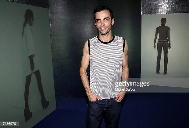 Designer Nicolas Ghesquiere attends a retrospective of the work of Cristobal Balenciaga at the Museum of Fashion and Textiles July 4 2006 in Paris...