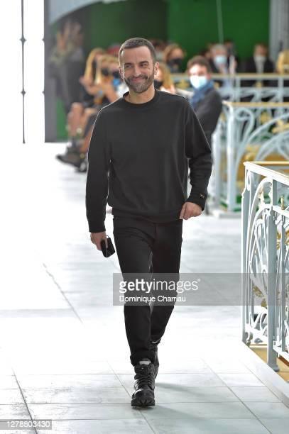 Designer Nicolas Ghesquière walks the runway during the Louis Vuitton Womenswear Spring/Summer 2021 show as part of Paris Fashion Week on October 06...