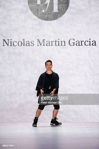 Designer Nicolas Martin Garcia walks the runway at the fashion talent award 'Designer for Tomorrow' by Peek Cloppenburg and Fashion ID hosted by Zac...