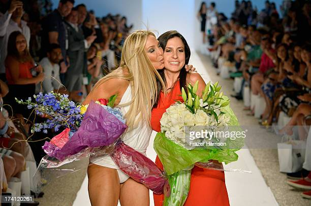 Designer Nicole Di Rocco and Lisa Pliner walk the runway at the Nicolita show during MercedesBenz Fashion Week Swim 2014 at Oasis at the Raleigh on...