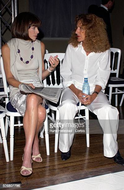 Designer Nicole Fahri talks Anna Wintour editor of American Vogue before her show at London Fashion Week