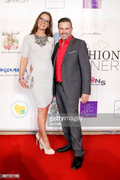 Designer Nicole Hayduga and Pedro Da Silva attend the Kempinski Fashion Dinner on May 23 2017 in Munich Germany