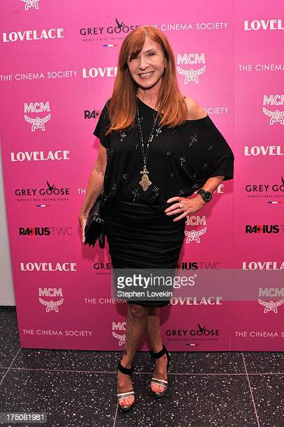 Designer Nicole Miller attends The Cinema Society and MCM with Grey Goose screening of Radius TWC's Lovelace at MoMA on July 30 2013 in New York City