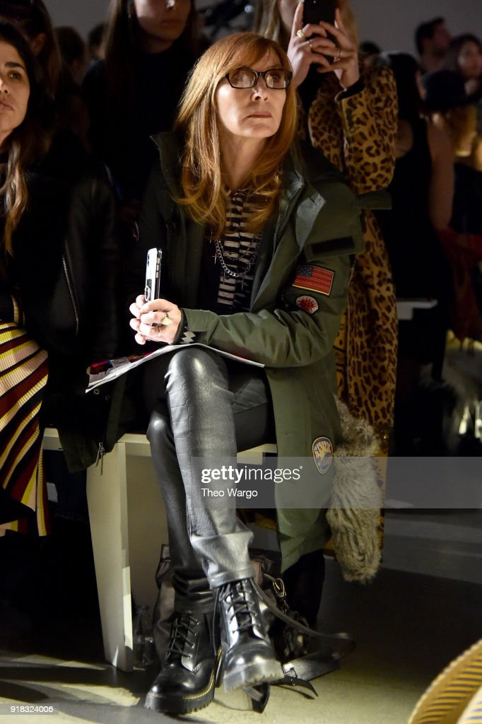 Designer Nicole Miller attends the Esteban Cortazar front row during New York Fashion Week: The Shows at Gallery I at Spring Studios on February 14, 2018 in New York City.