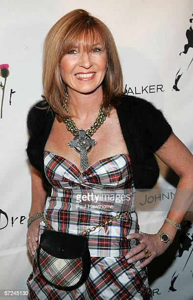 Designer Nicole Miller attends the Johnnie Walker Dressed to Kilt fashion show and charity event at the Synod House at St. John the Divine Cathedral...