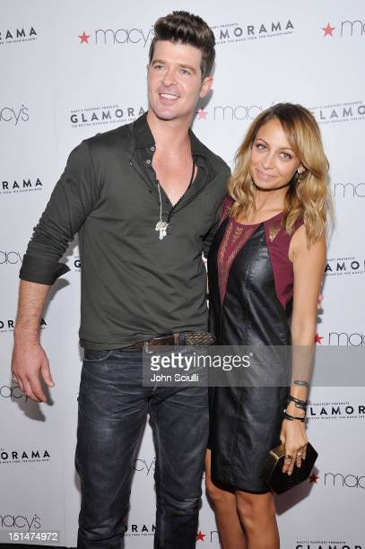 Designer Nicole Richie and singer Robin Thicke arrive at Macy's Passport Presents Glamorama 30th Anniversary in Los Angeles held at The Orpheum...