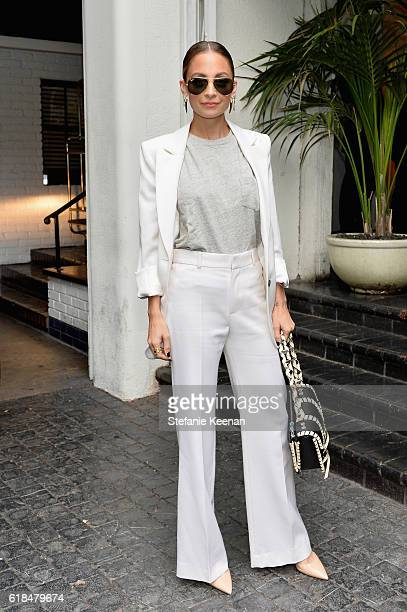 Designer Nicole Richie at the CFDA/Vogue Fashion Fund Show and Tea presented by kate spade new york at Chateau Marmont on October 26 2016 in Los...