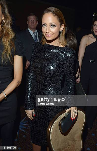 Designer Nicole Richie attends the 55th Annual GRAMMY Awards PreGRAMMY Gala and Salute to Industry Icons honoring LA Reid held at The Beverly Hilton...