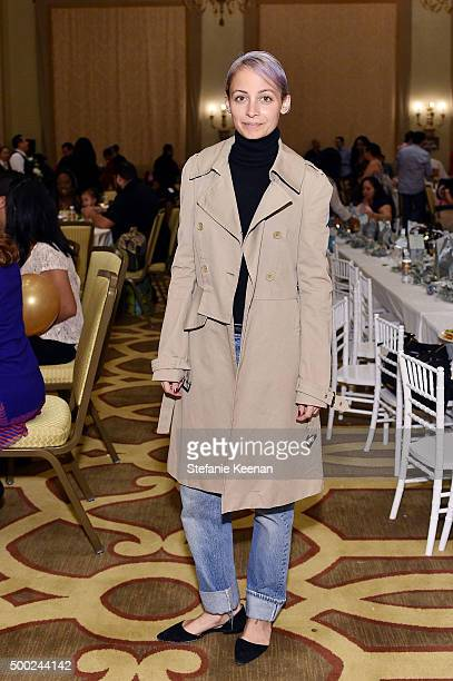 Designer Nicole Richie attends the Baby2Baby Holiday Party Presented By Tiny Prints At Montage Beverly Hills on December 6 2015 in Beverly Hills...