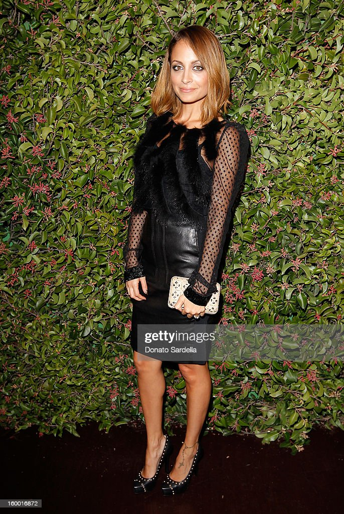 Designer Nicole Richie attends the Ferragamo presentation Spring Summer Runway Collection with VIP dinner, hosted by Jacqui Getty and Harpers BAZAAR at Chateau Marmont on January 24, 2013 in Los Angeles, California.