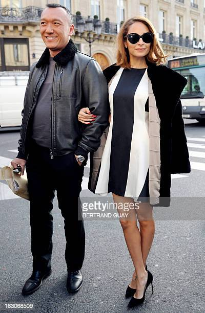 US designer Nicole Richie poses on March 4 2013 as she arrives to attend Stella McCartney's Fall/Winter 20132014 readytowear collection show in Paris...