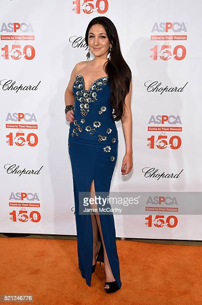 Designer Nicole Romano attends ASPCA 19th Annual Bergh Ball honoring Drew Barrymore hosted by Nathan Lane wiith music by Mark Ronson at the Plaza...