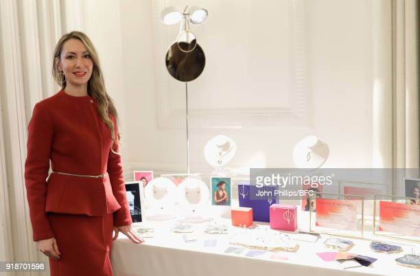 Designer Nicoletta Papadaki attends 'Cocktails And Curated Collections' during London Fashion Week February 2018 hosted by The High Commission Of...