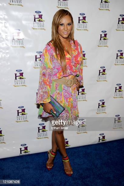 Designer Nikki Chu arrives at the ninth annual Ford Hoodie Awards at the Mandalay Bay Events Center August 13 2011 in Las Vegas Nevada