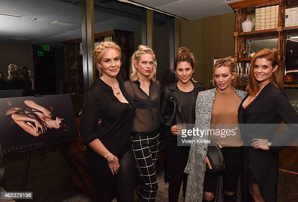 Designer Nikki Erwin actress Erin Foster designer Alisia Leibel and actresses Hilary Duff and Joanna Garcia Swisher attend the Established Jewelry By...
