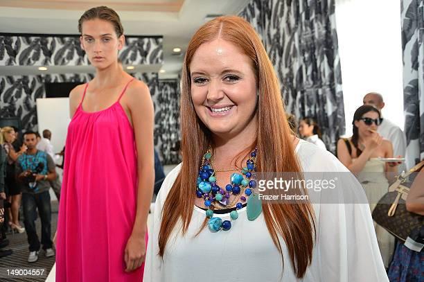 Designer Nikki Silverthorne poses at the Kooey Australia presentation during MercedesBenz Swim 2013 at The Raleigh on July 21 2012 in Miami Beach...