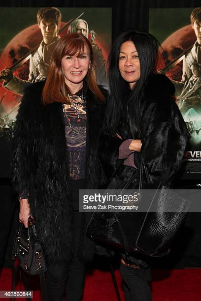 """Designer Niocle Miller and Helen Lee Schifter attend """"Seventh Son"""" Special Screening at Crosby Street Hotel on January 30, 2015 in New York City."""